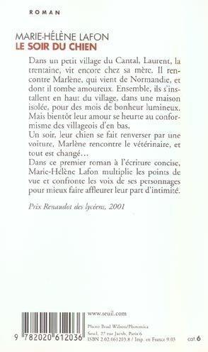 Livre - Le soir du chien - Marie-Hélène Lafon