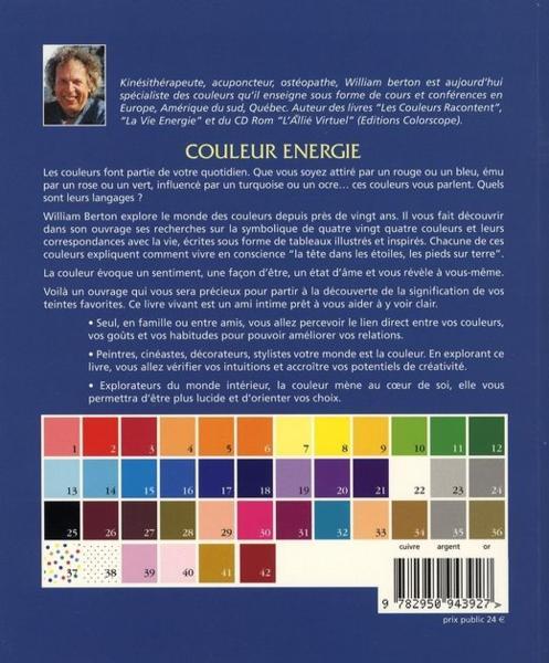 Livre couleur nergie le langage des couleurs de la vie william berton - Langage des couleurs ...