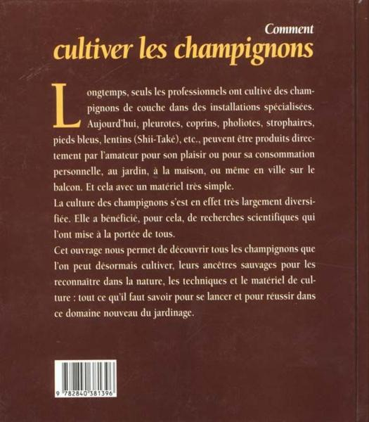 livre comment cultiver les champignons philippe joly. Black Bedroom Furniture Sets. Home Design Ideas