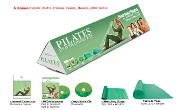 kit complet d 39 entra nement pilates livre manuel 1 dvd 1 cd accessoires. Black Bedroom Furniture Sets. Home Design Ideas