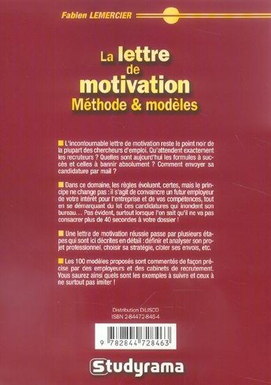 livre - cv et lettre de motivation   methodes et modeles  4e edition