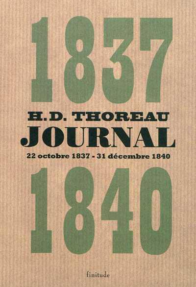 Vente  Journal 1837-1840  - Henry David Thoreau