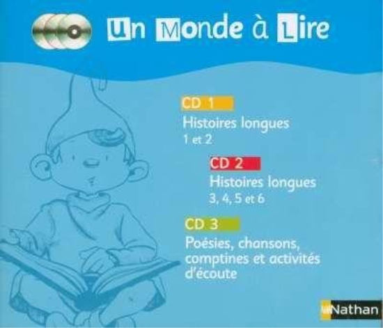 UN MONDE A LIRE ; lecture ; CP ; 3 cd audio  - Christian Lamblin