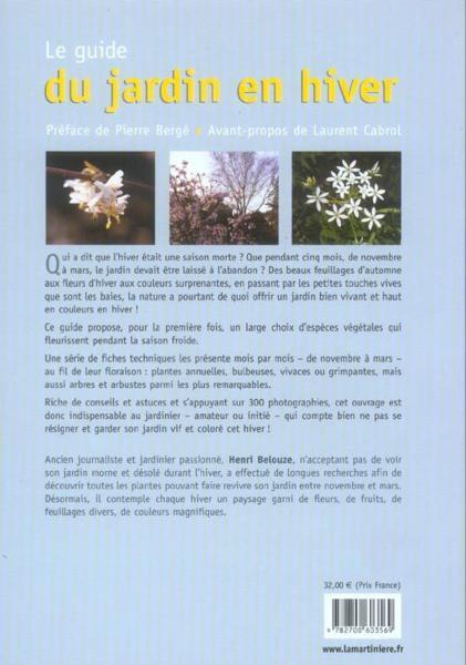 Livre guide du jardin en hiver le henri belouze for Couverture plante hiver