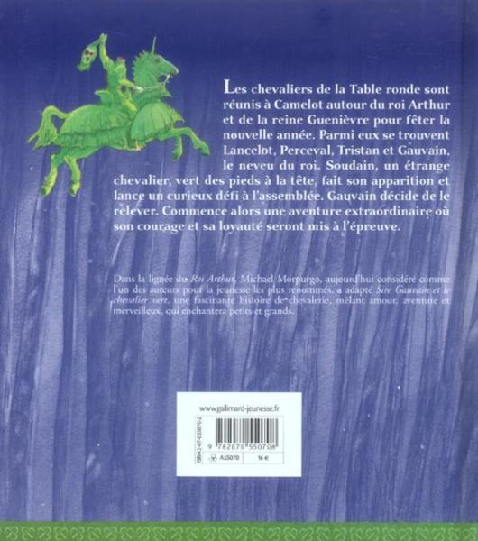 Livre sire gauvain et le chevalier vert michael morpurgo - Les chevaliers de la table ronde resume ...