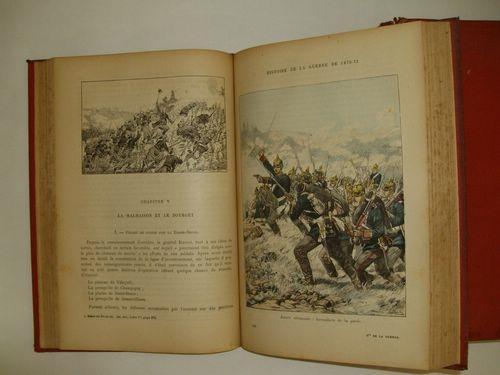 Militaires, cartes et plans en noir et en couleurs - 6 livres en 3 vol