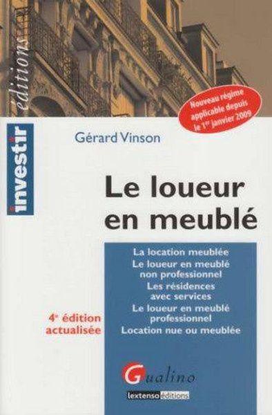 Le loueur en meubl professionnel 4e dition gerard for Loueur en meuble professionnel