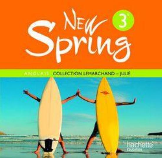 livre new spring anglais 3 me lv1 4 cd audio de la classe edition 2009 lemarchand. Black Bedroom Furniture Sets. Home Design Ideas