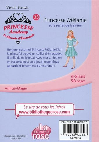 Livre princesse academy princesse m lanie et le secret de la sir ne vivian french - Le secret des sirene ...