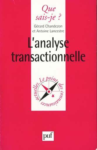 Analyse transactionnelle (l')  - Chandezon/Lancestre
