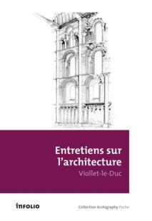 Livre entretiens sur l 39 architecture eug ne emmanuel viollet le duc - Livre sur l architecture ...