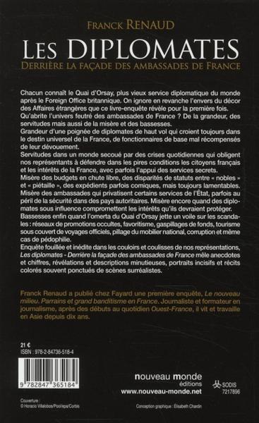 livre les diplomates derriere la facade des ambassades de france franck renaud. Black Bedroom Furniture Sets. Home Design Ideas