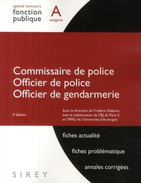 livre commissaire de police officier de police officier de gendarmerie 3e dition debove. Black Bedroom Furniture Sets. Home Design Ideas