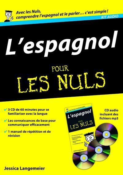 livre kit audio l 39 espagnol pour les nuls avec les nuls comprendre l 39 espagnol et le parler. Black Bedroom Furniture Sets. Home Design Ideas