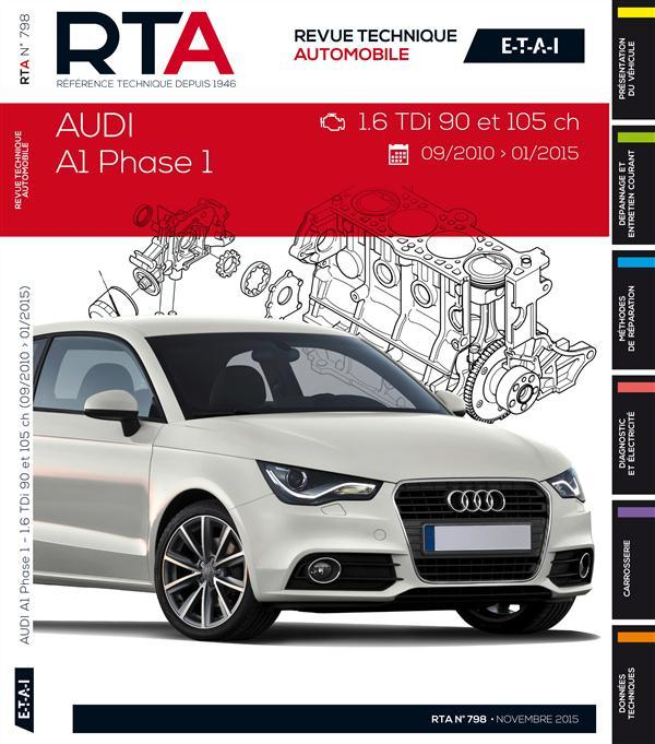 livre revue technique automobile audi a1 09. Black Bedroom Furniture Sets. Home Design Ideas