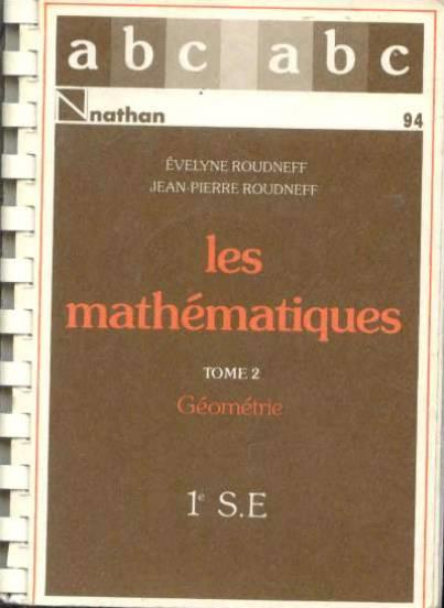 Abc Mathe 1°Se T.2 Cours  - Collectif
