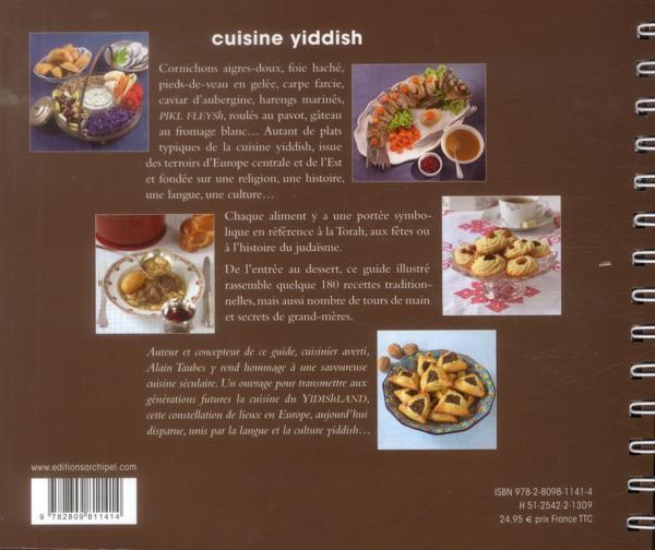 livre cuisine yiddish recettes familiales des