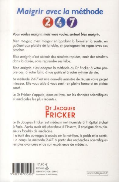 Livre - Maigrir avec la méthode 2-4-7 - Jacques Fricker