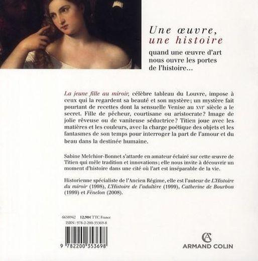 Livre la jeune femme au miroir de titien sabine for Sabine melchior bonnet histoire du miroir