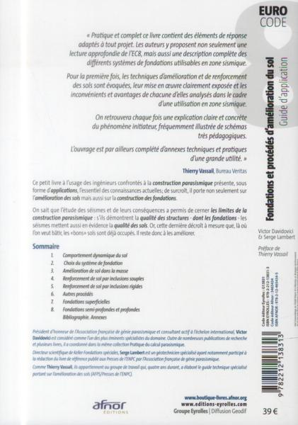 livre fondations et proc d s d 39 am lioration du sol guide d 39 application de l 39 eurocode 8. Black Bedroom Furniture Sets. Home Design Ideas