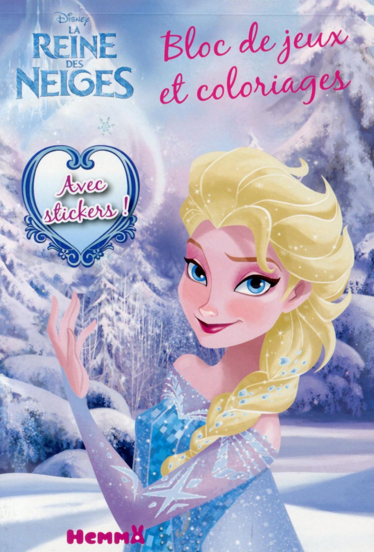 Livre disney la reine des neiges bloc de jeux et coloriages avec stickers collectif - Jeux reine des neige en ligne ...