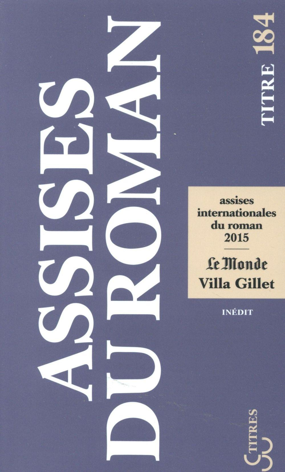 Vente  Assises internationales du roman 2015  - Collectif