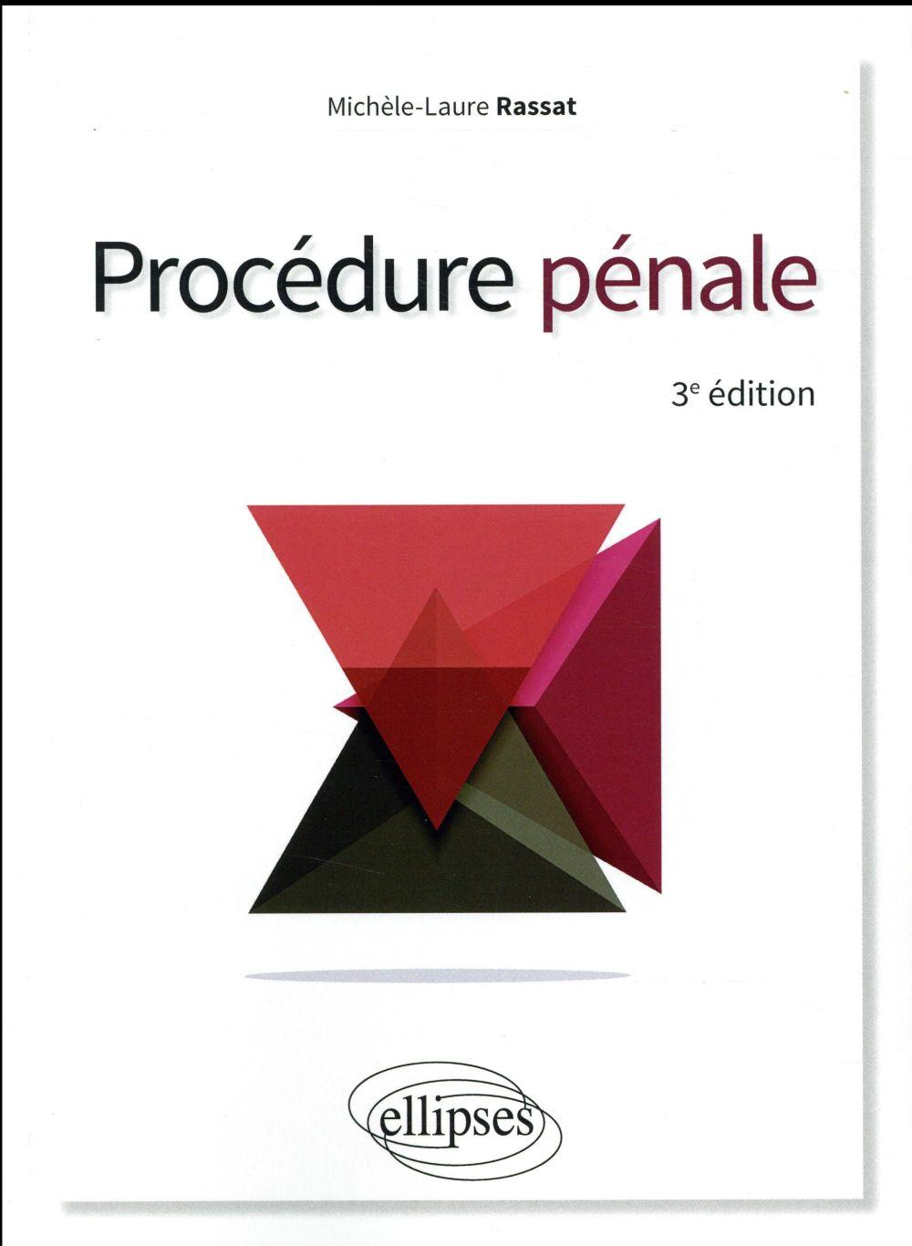 Vente Livre :                                    Procedure penale 3eme edition                                      - Rassat