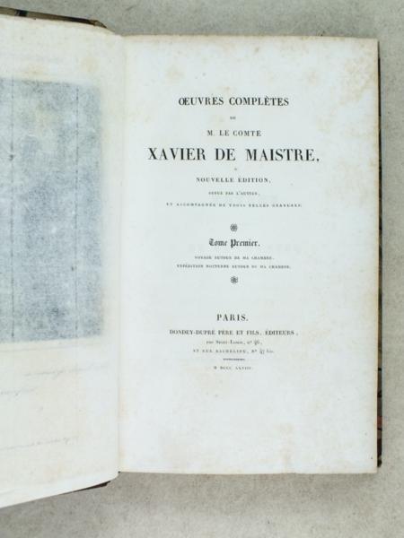 Livre oeuvres compl tes de m le comte xavier de maistre - La chambre des officiers resume complet du livre ...