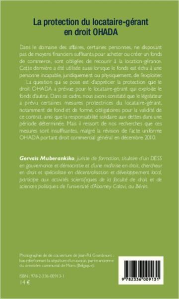 Livre protection du locataire g rant en droit ohada gervais muberankiko - Location droit du locataire ...