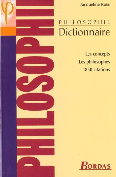 Russ/Dict.De Philosophie  - Collectif