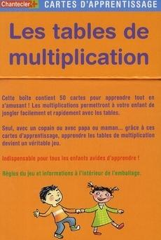 Livre cartes d 39 apprentissage les tables de for Methode apprentissage table de multiplication