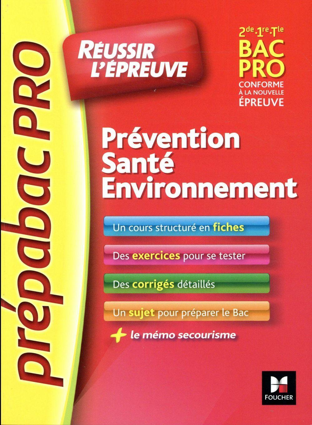 Prepabac pro pr vention sant environnement sylvie for Programme bac pro cuisine