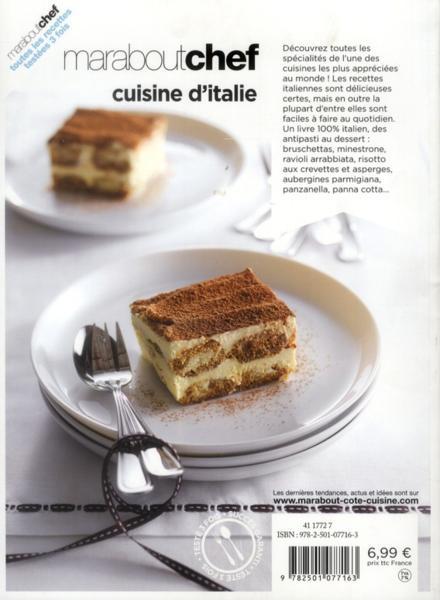 Livre le livre marabout de la cuisine italienne collectif - Marabout livre cuisine ...
