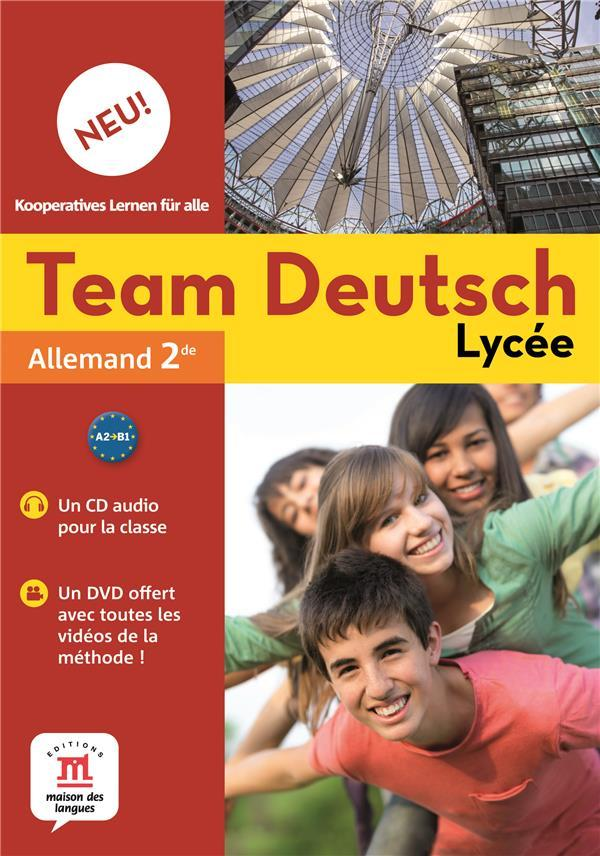 TEAM DEUTSCH NEU 2 ; allemand ; pack  2 CD audio classe + DVD  - Collectif