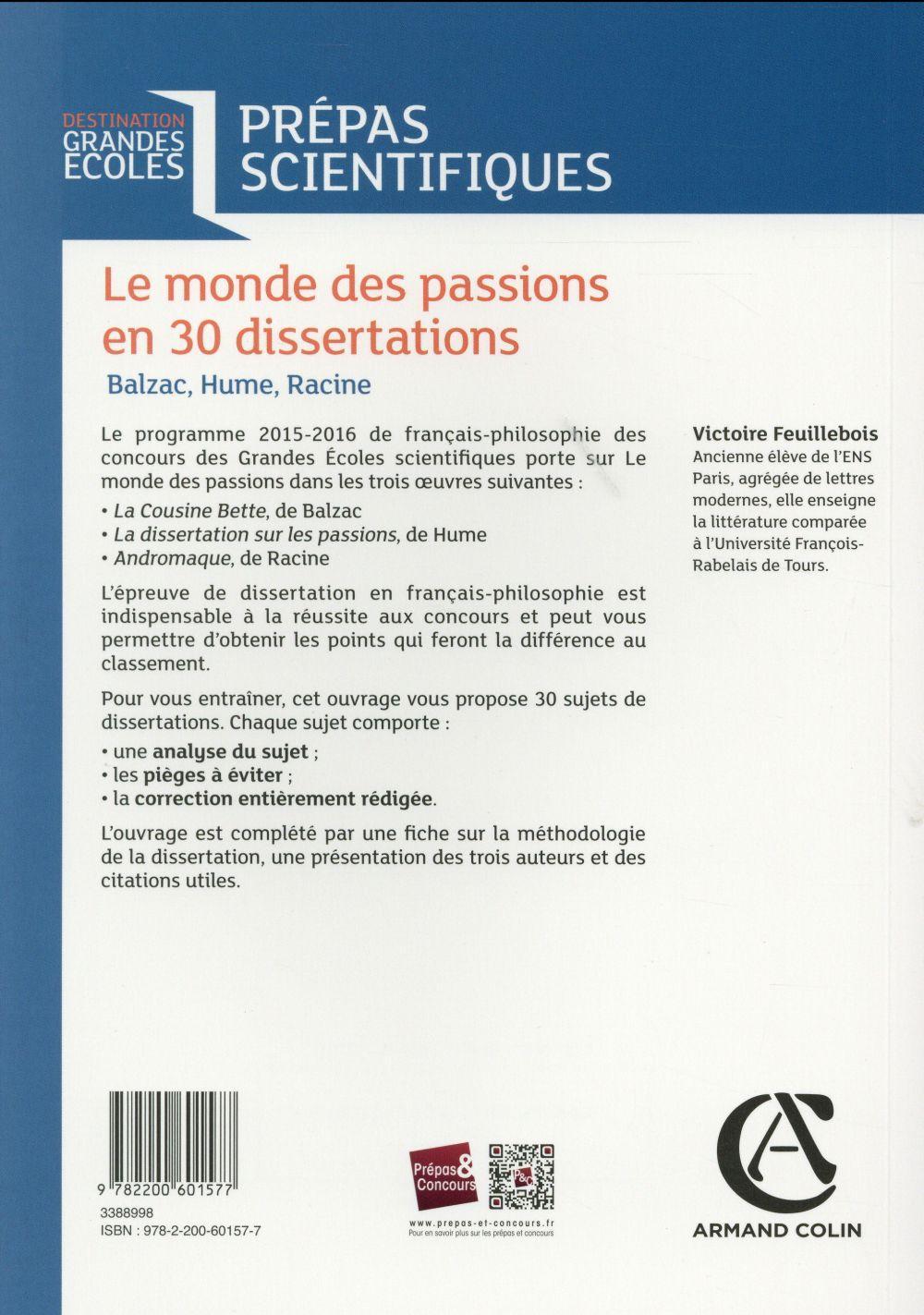 dissertation sur les passions hume prépa