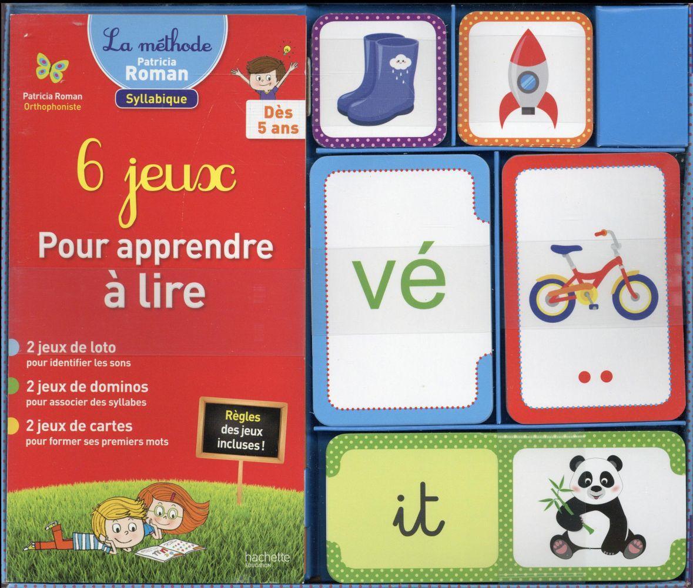 6 jeux pour apprendre à lire - Patricia Roman - - Belgique Loisirs