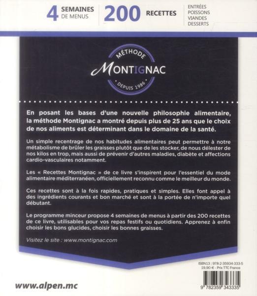 Livre maigrir avec la m thode montignac recettes for Methode montignac