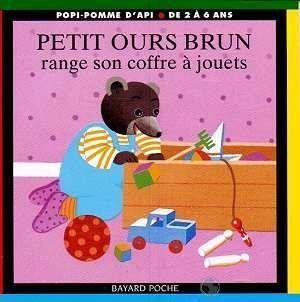 livre petit ours brun range son coffre jouets. Black Bedroom Furniture Sets. Home Design Ideas
