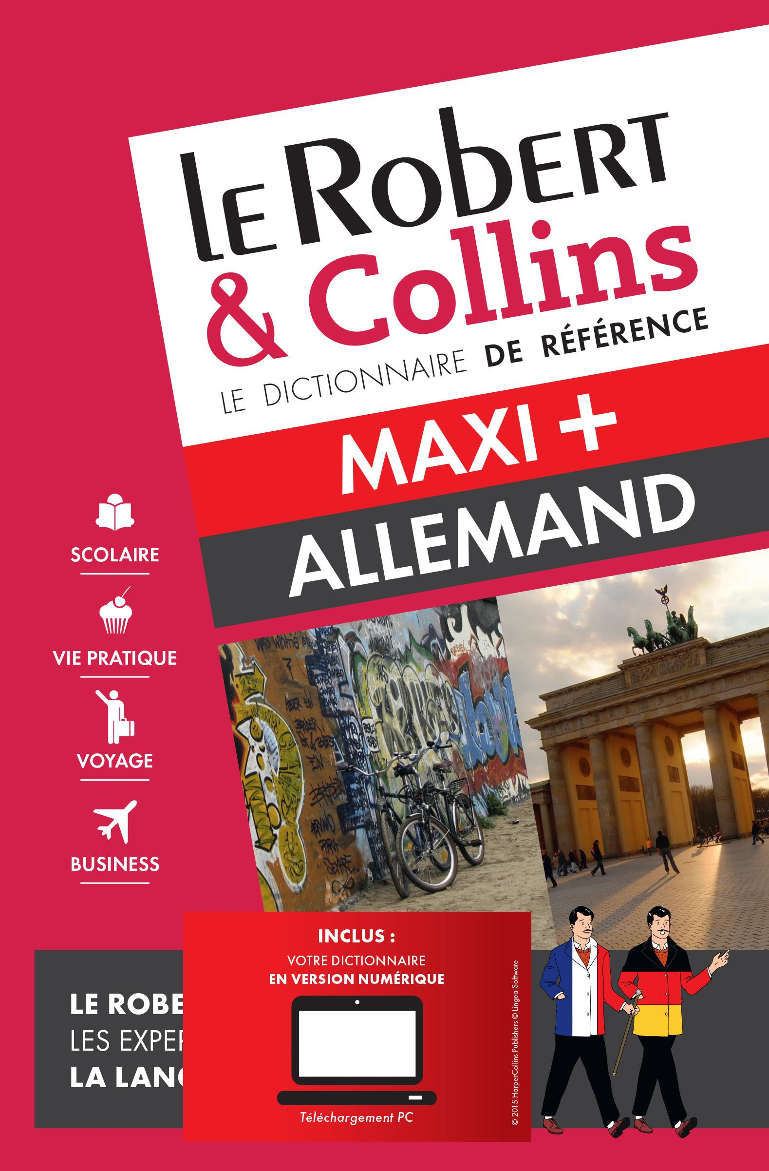 LE ROBERT & COLLINS ; MAXI + ; dictionnaire allemand  - Collectif