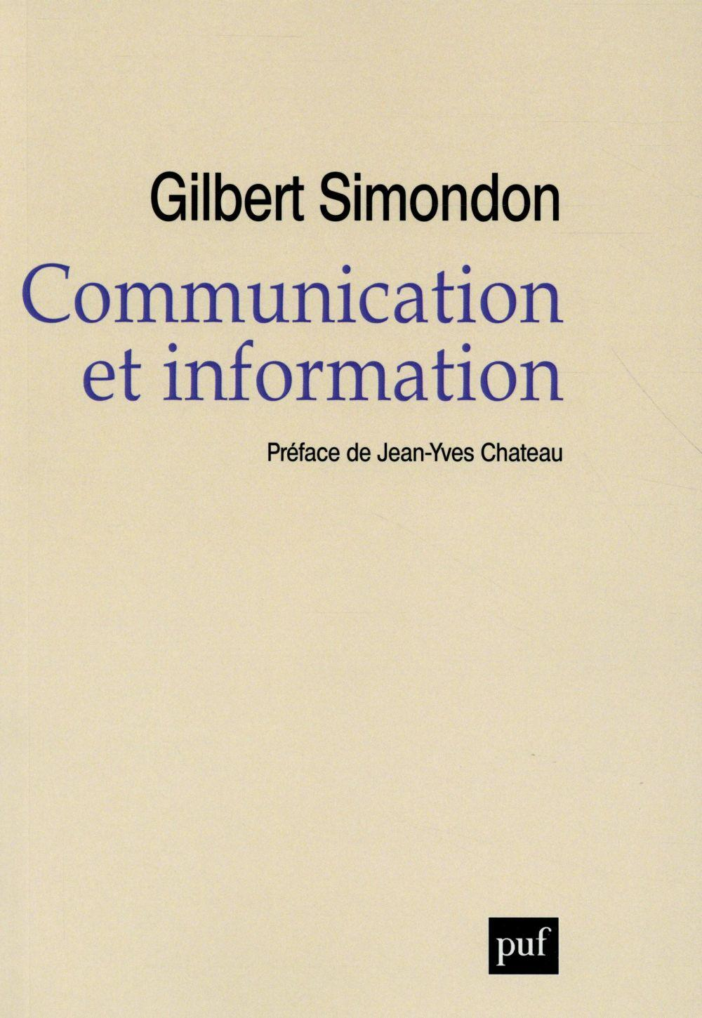 Communication et information  - Gilbert Simondon