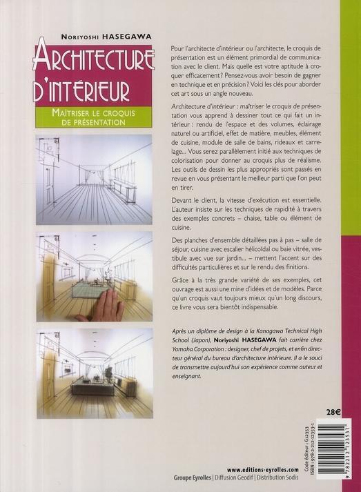 livre architecture d 39 int rieur ma triser le croquis de pr sentation hasegawa noriyoshi. Black Bedroom Furniture Sets. Home Design Ideas
