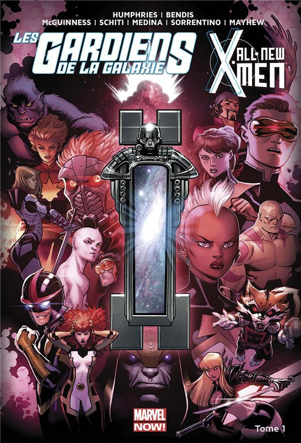 All new X-Men/les Gardiens de la Galaxie T.1 ; le vortex noir t.1  - Brian Michael Bendis  - Sam Humphries  - Andrea Sorrentino  - Valerio Schiti  - Ed Mcguinness