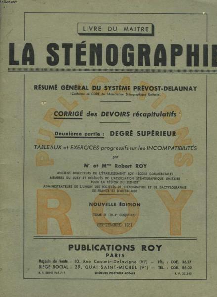 Livre le livre du maitre la stenographie resume - La chambre des officiers resume du livre ...