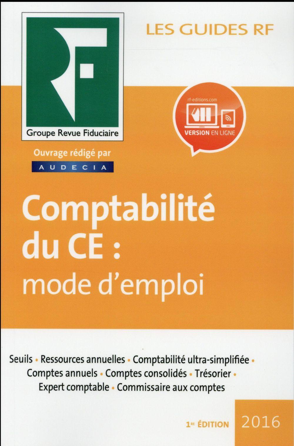 La comptabilit du ce mode d 39 emploi collectif - Liste des cabinets d expertise comptable au senegal ...