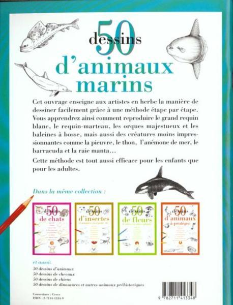 Livre 50 dessins d 39 animaux marins ames lee j - Dessin d animaux marins ...
