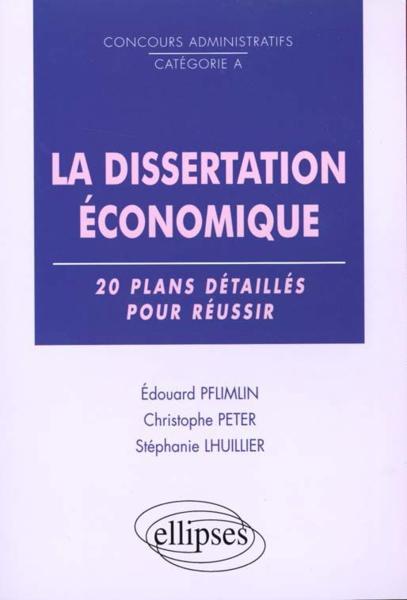 Dissertation economique plan