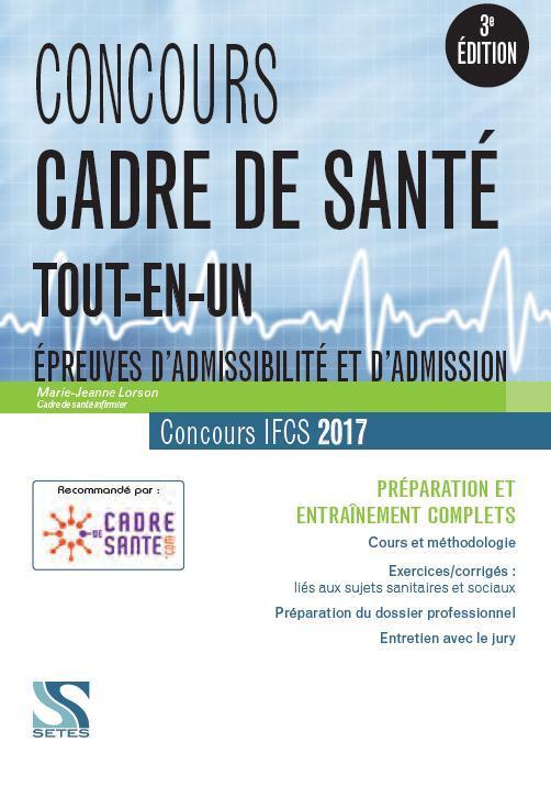 concours cadre de sant 233 ifcs concours 2017 tout en un 233 preuves d admissibilit 233 et d