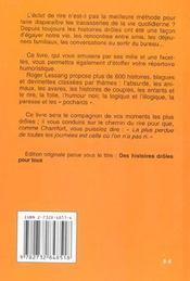 Histoires Droles (Les) Poche - 4ème de couverture - Format classique