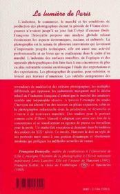 La Lumiere De Paris T.1 ; Le Marche De La Photographie, 1919-1939 - 4ème de couverture - Format classique