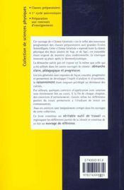 Chimie Generale : Cours Et Exercices D'Application - 4ème de couverture - Format classique